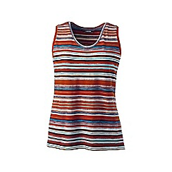 Lands' End - Multi plus stripe jacquard knit vest top