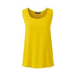 Lands' End - Yellow regular sleeveless satin-back crepe top