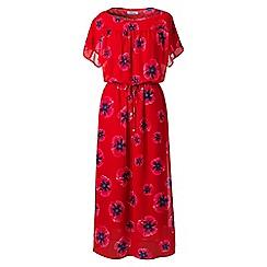 Lands' End - Red dolman sleeves print summer dress