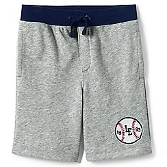 Lands' End - Boys' grey heathered loopback jersey shorts