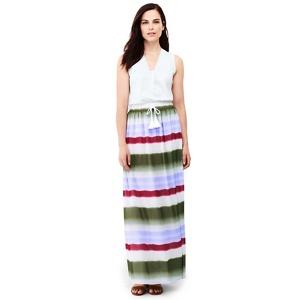 Lands' End Purple woven maxi skirt