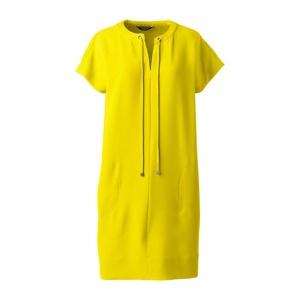 Lands' End Yellow satin back crepe shift dress