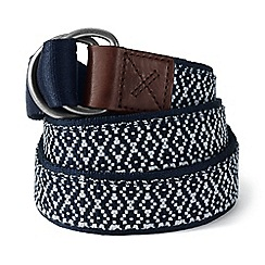 Lands' End - Blue d-ring cotton webbing belt