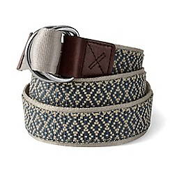 Lands' End - Green d-ring cotton webbing belt