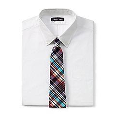Lands' End - Blue madras check cotton tie