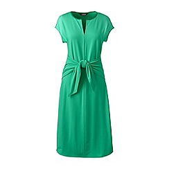 Lands' End - Green soft stretch jersey tie front dress