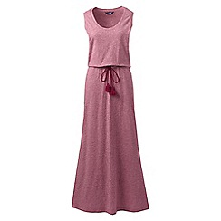 Lands' End - Pink cotton jersey maxi dress