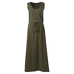 Lands' End - Green cotton jersey maxi dress