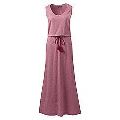 Lands' End - Pink petite cotton jersey maxi dress
