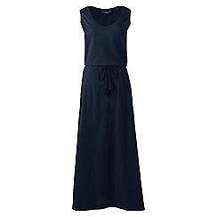 Lands' End - Blue petite cotton jersey maxi dress