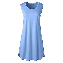 Lands' End - Blue sleeveless knee length supima nightdress