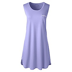 Lands' End - Purple petite sleeveless knee length supima nightdress