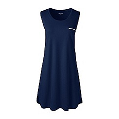 Lands' End - Blue petite sleeveless knee length supima nightdress