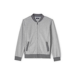 Lands' End - Grey loopback jersey bomber jacket