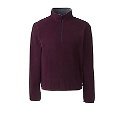 Lands' End - Purple half-zip fleece top