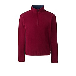 Lands' End - Red half-zip fleece top