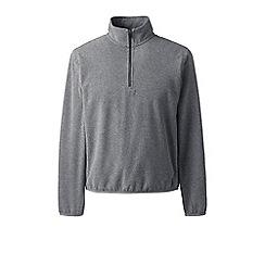 Lands' End - Grey half-zip fleece top