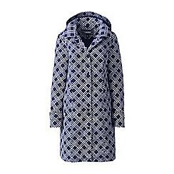 Lands' End - Blue plus patterned coastal rain coat