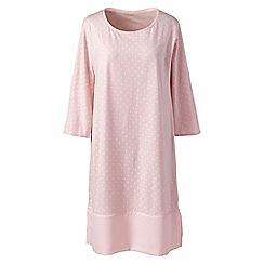 Lands' End - Pink cotton modal knee length nightdress