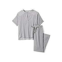 Lands' End - Grey satin crepe pyjama set