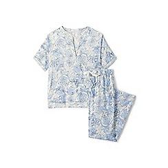 Lands' End - Cream satin crepe pyjama set