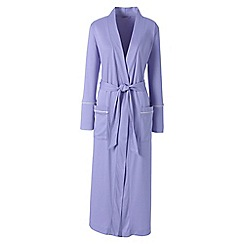 Lands' End - Purple plus bracelet sleeve supima dressing gown