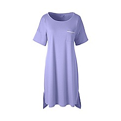 Lands' End - Purple plus short sleeve knee length supima nightdress