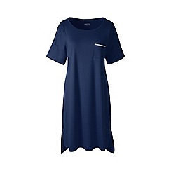 Lands' End - Blue plus short sleeve knee length supima nightdress