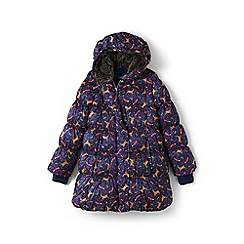 Lands' End - Girls' blue a-line down coat