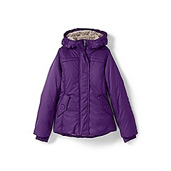 Lands' End - Girls' purple fleece lined jacket