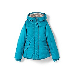 Lands' End - Girls' blue fleece lined jacket