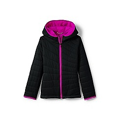 Lands' End - Girls' black primaloft packable jacket
