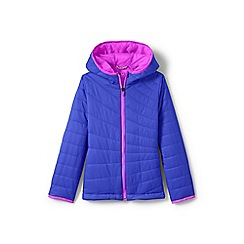 Lands' End - Girls' blue primaloft packable jacket