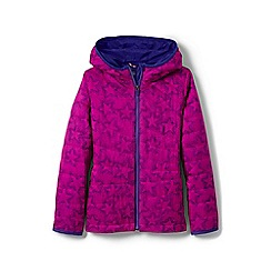 Lands' End - Girls' pink primaloft packable patterned jacket