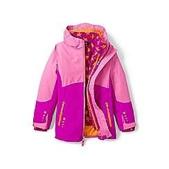 Lands' End - Girls' pink 3-in-1 stormer coat