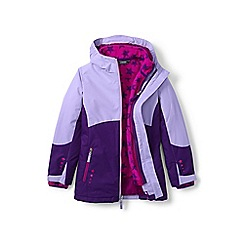 Lands' End - Girls' purple 3-in-1 stormer coat