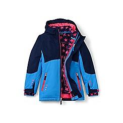 Lands' End - Girls' blue 3-in-1 stormer coat