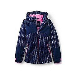 Lands' End - Girls' blue patterned stormer jacket