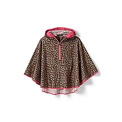 Lands' End - Girls' brown poncho