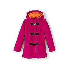 Lands' End - Girls' pink duffle coat