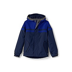 Lands' End - Boys' blue waterproof squall jacket