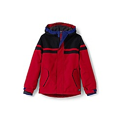 Lands' End - Boys' red waterproof squall jacket