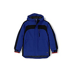 Lands' End - Boys' blue waterproof squall coat