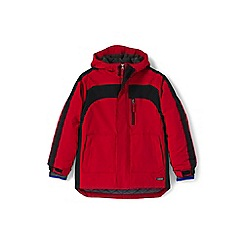 Lands' End - Boys' red waterproof squall coat