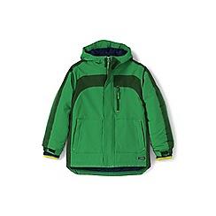 Lands' End - Boys' green waterproof squall coat