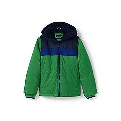 Lands' End - Boys' green fleece-lined jacket