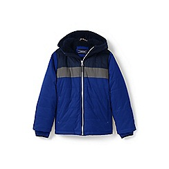 Lands' End - Boys' blue fleece-lined jacket