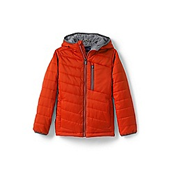 Lands' End - Boys' brown packable primaloft jacket