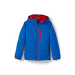 Lands' End - Boys' blue packable primaloft jacket