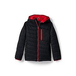 Lands' End - Boys' black packable primaloft jacket